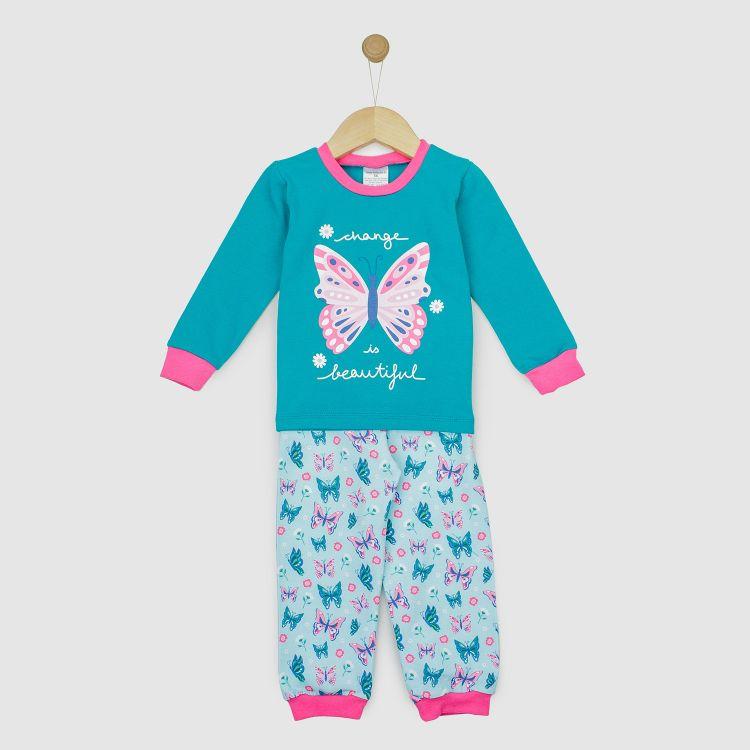 Motiv-Pyjama-Set  ButterfliesAndDaisies
