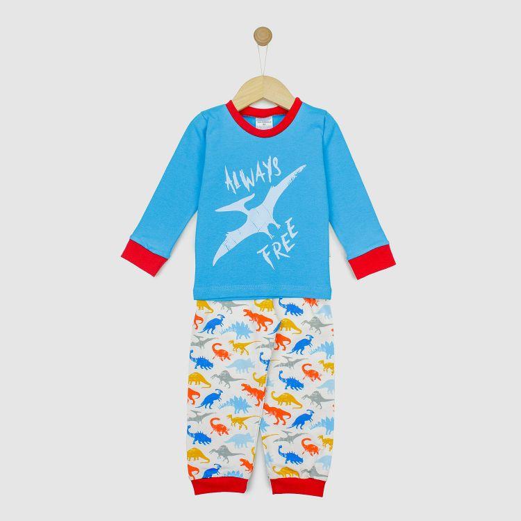 Motiv-Pyjama-Set  WildDinos-Blue