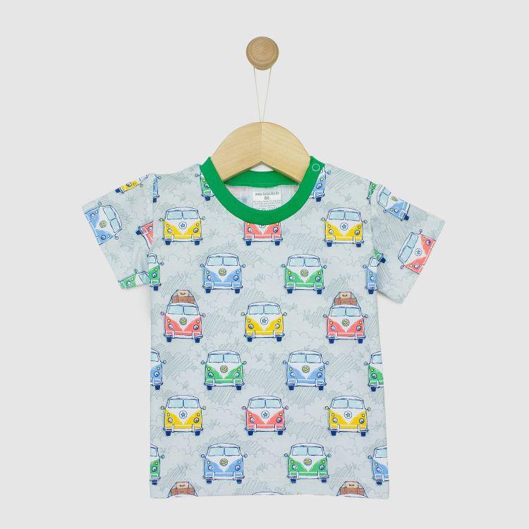 T-Shirt HappyHippieBus-Grey