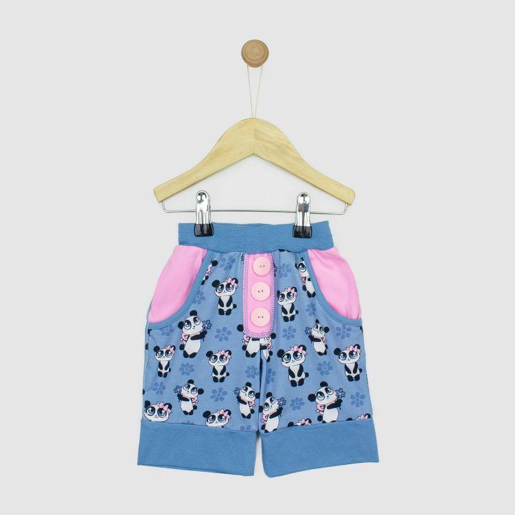 Baby-CoolPocketShorts - GirlyPanda-Grey