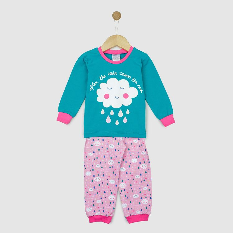 Motiv-Pyjama-Set  SpringClouds