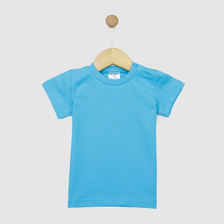 Uni-T-Shirt Azurblau
