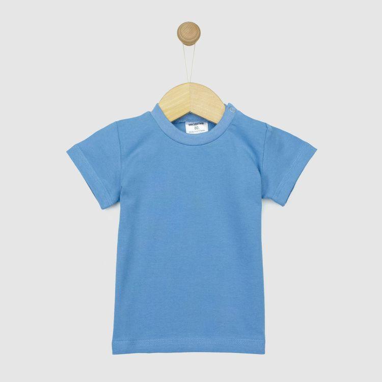 Uni-T-Shirt Rauchblau