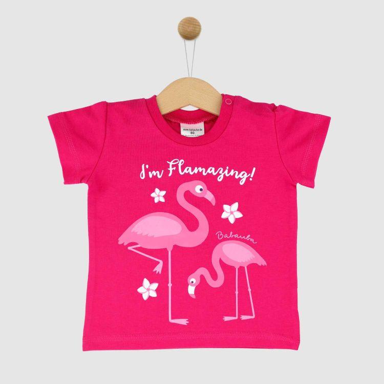 KurzarmShirt Hero FlamingoFun-Cyklame