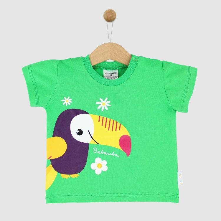 KurzarmShirt Hero HappyParrots-Grasgrün