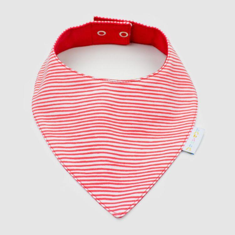 Dreieckstuch Stripes-RedWhite