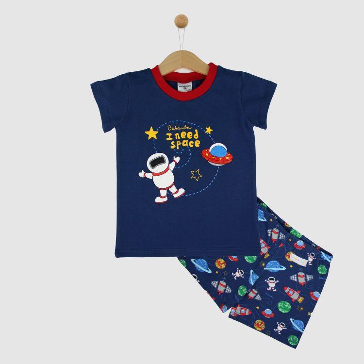 Motiv-Pyjama Set-Shortstyle OuterSpace