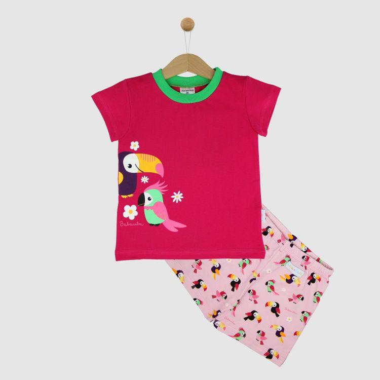 Motiv-Pyjama Set-Shortstyle HappyParrots