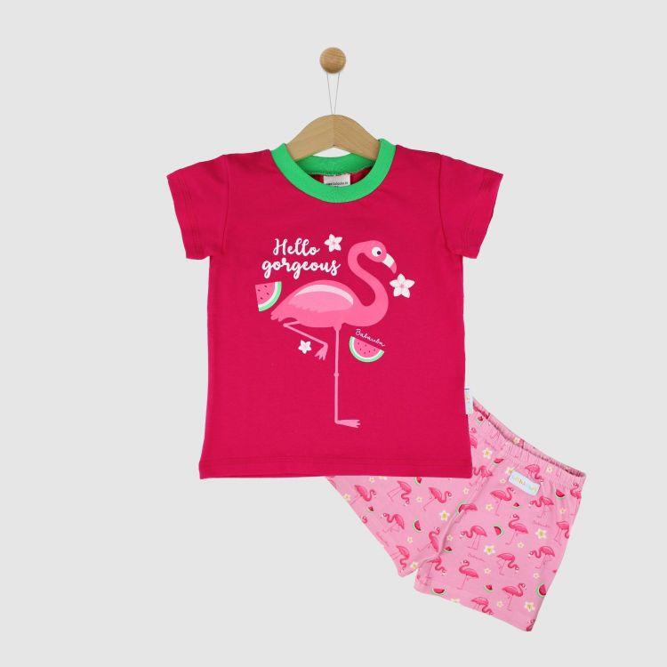 Motiv-Pyjama Set-Shortstyle FlamingoFun
