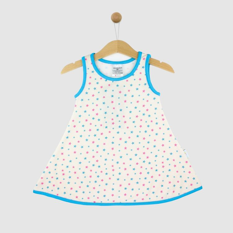 LittleMissSunshine-Dress CuteStars-BluePink