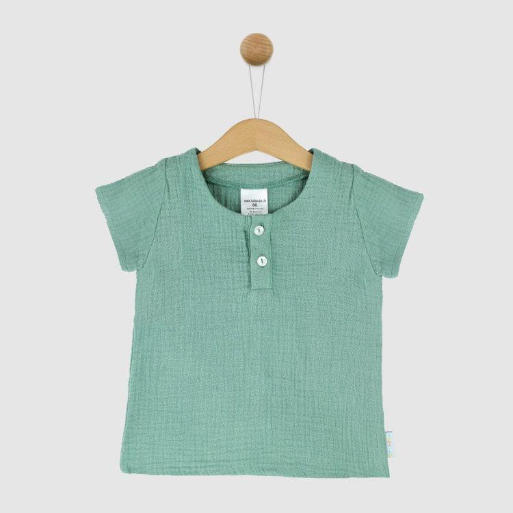 Musselin-Shirt Mintgreen
