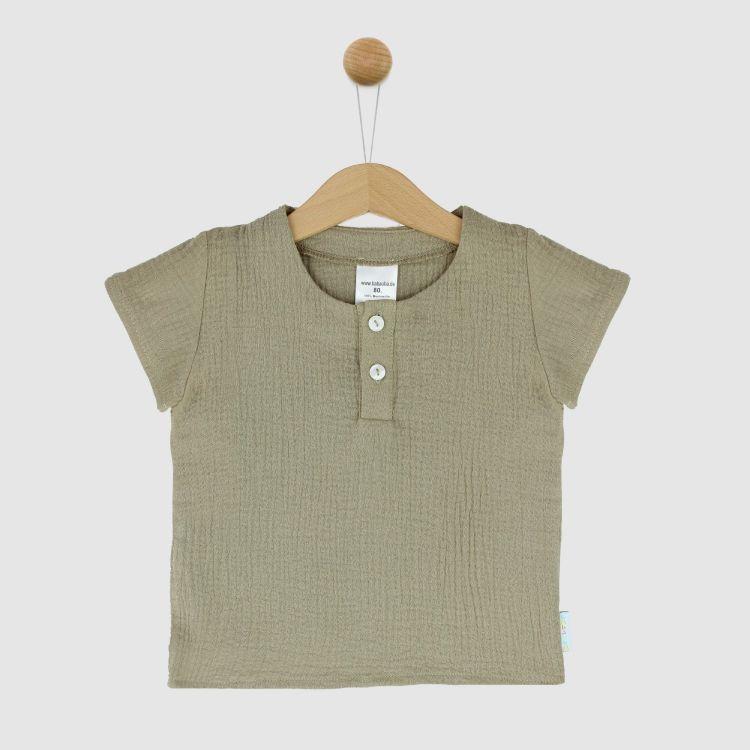 Musselin-Shirt Sand
