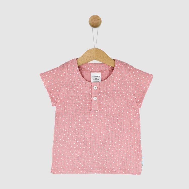 Musselin-Shirt RosaDots