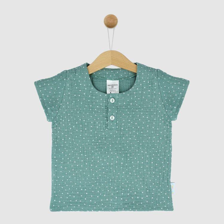 Musselin-Shirt MintgreenDots