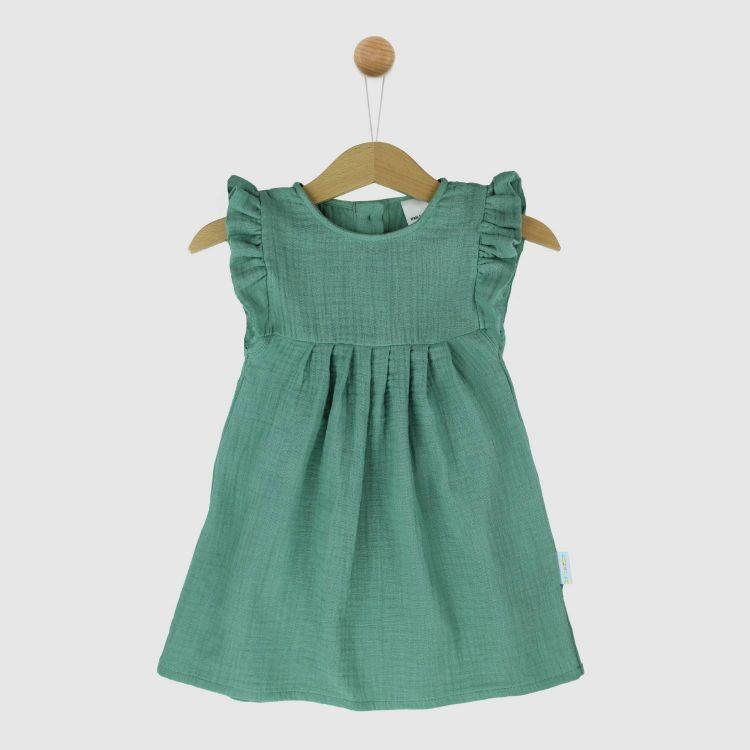 Musselin-Rüschen-Kleidchen Mintgreen