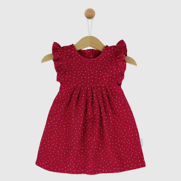 Musselin-Rüschen-Kleidchen PinkDots