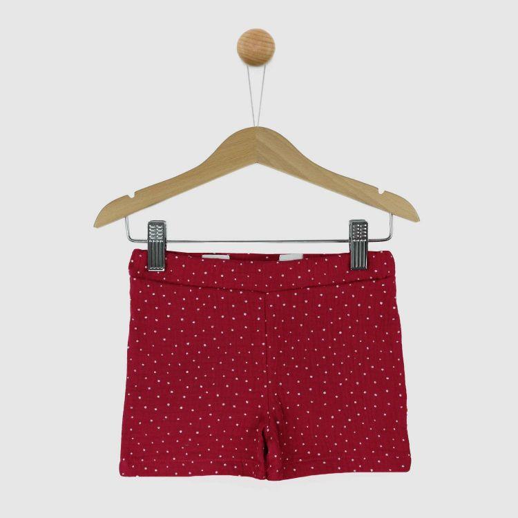 Musselin-Short PinkDots