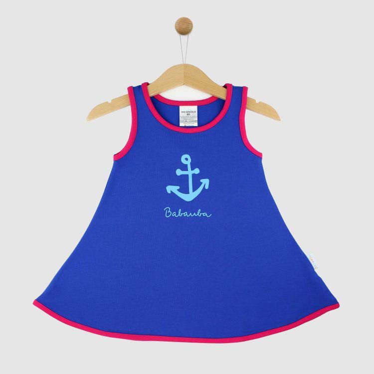 Hero-LittleMissSunshine-Dress Anchor-Königsblau