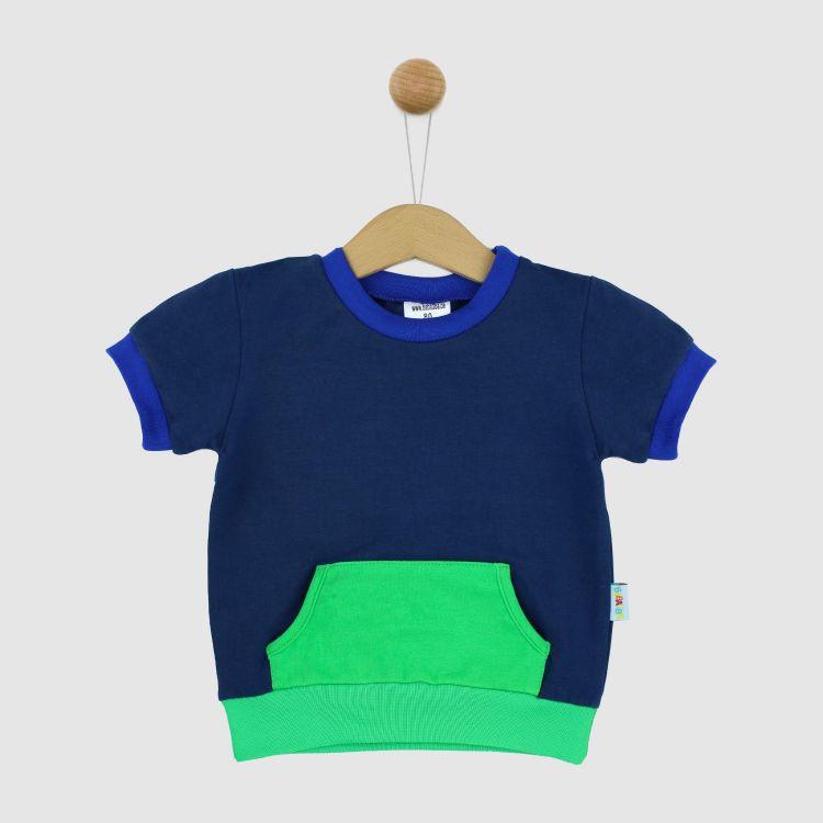 PocketShirt-ColourBlock Dunkelblau