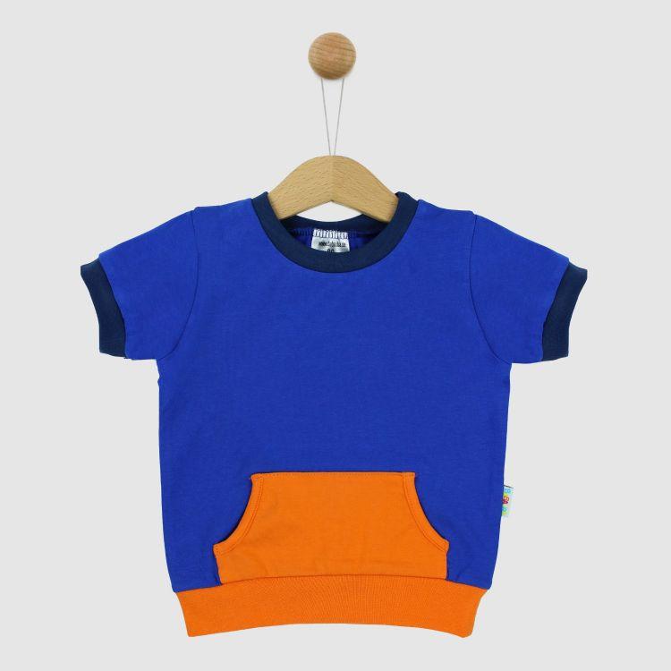 PocketShirt-ColourBlock Königsblau