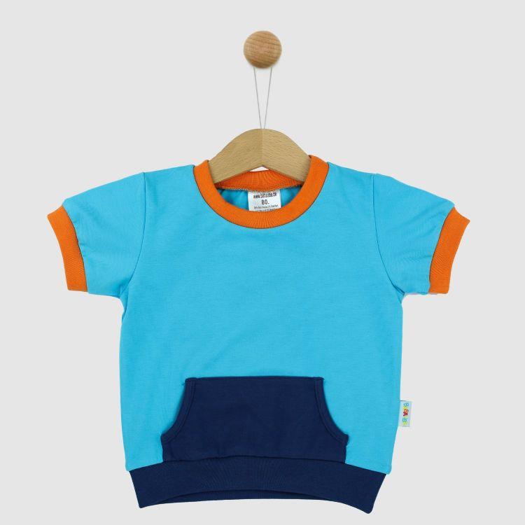 PocketShirt-ColourBlock Azurblau