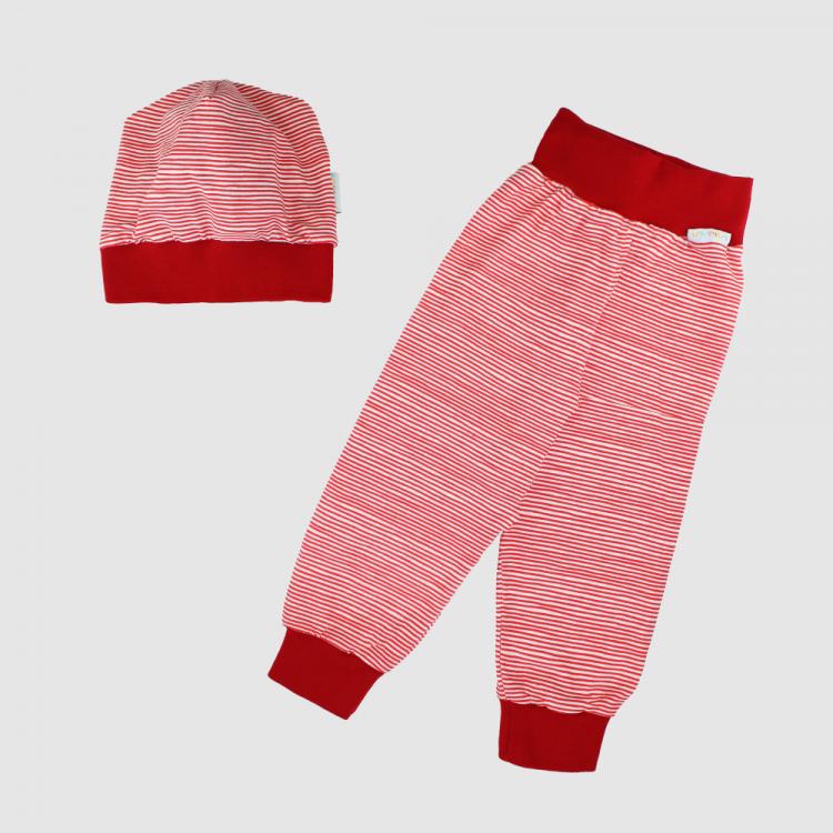 Erstlingsset 2-Teilig Stripes-RedWhite