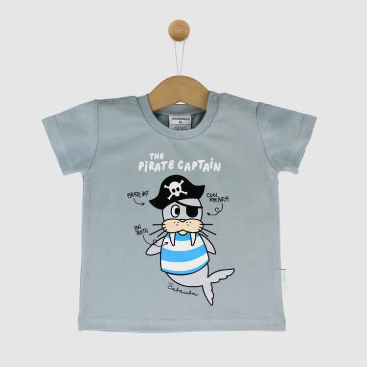 KurzarmShirt Hero AhoyPirates-Grau