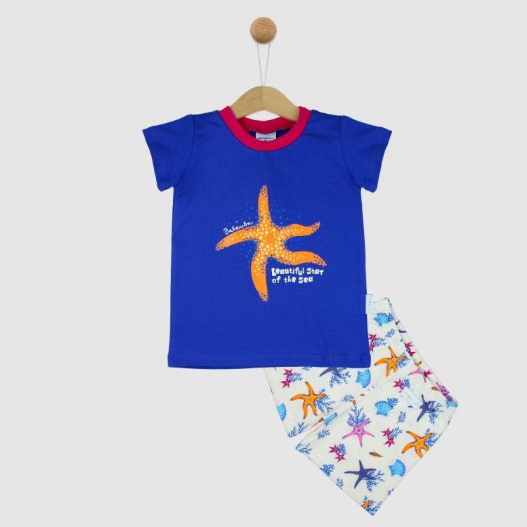 Motiv-Pyjama Set-Shortstyle BeautifulOcean