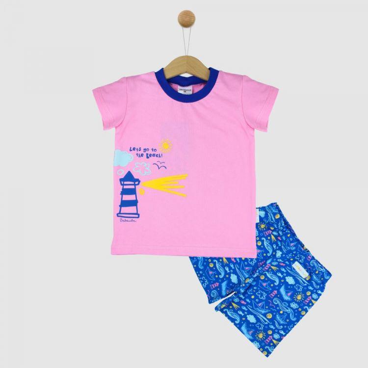 Motiv-Pyjama Set-Shortstyle LighthouseFun