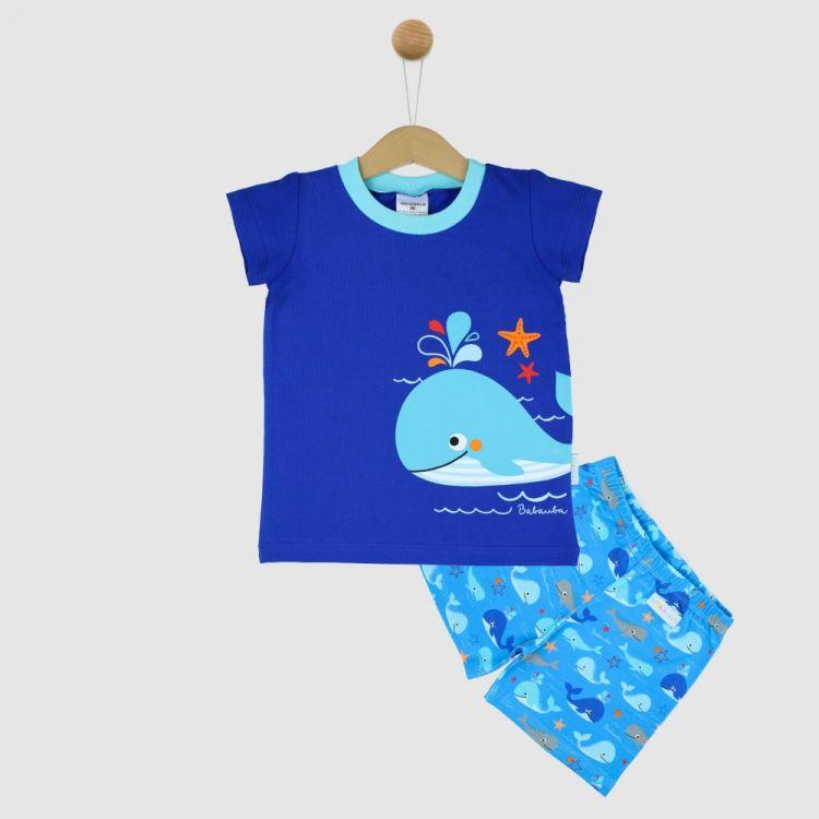 Motiv-Pyjama Set-Shortstyle BabaubaWhales