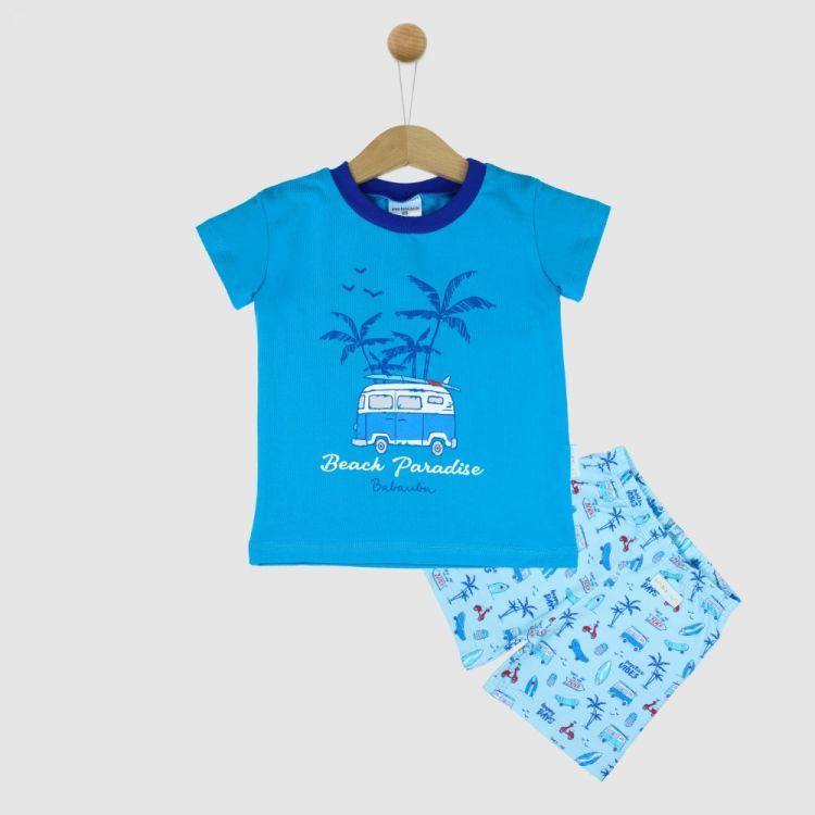 Motiv-Pyjama Set-Shortstyle BeachVibes