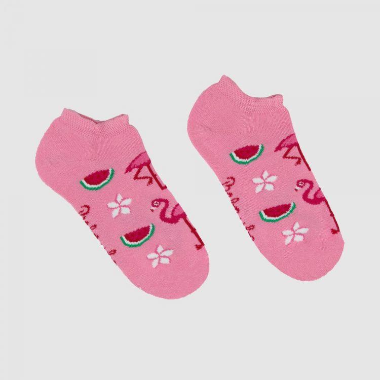 Sneaker-SockiSocks FlamingoFun