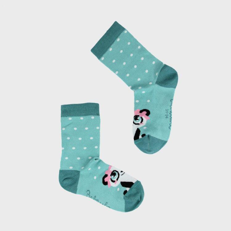 Woman-SockiSocks GirlyPanda-Grey-DotsEdition