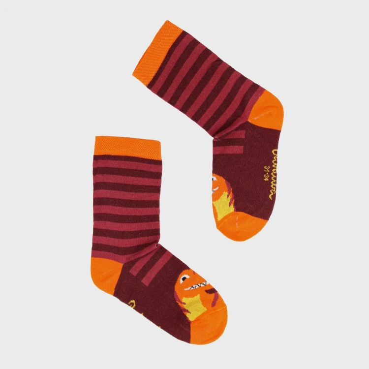 SockiSocks BabaubaBigDinos-Brown-StripesEdition