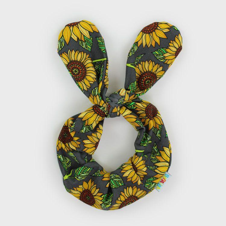 Knoten-Haargummi Sunflowers-Green