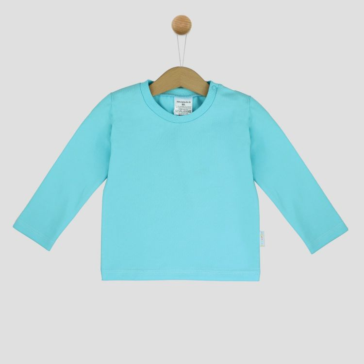 Uni-Langarmshirt Babyblau