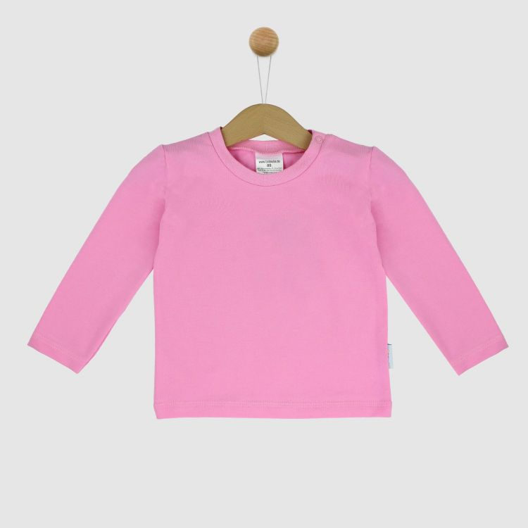 Uni-Langarmshirt Babyrosa