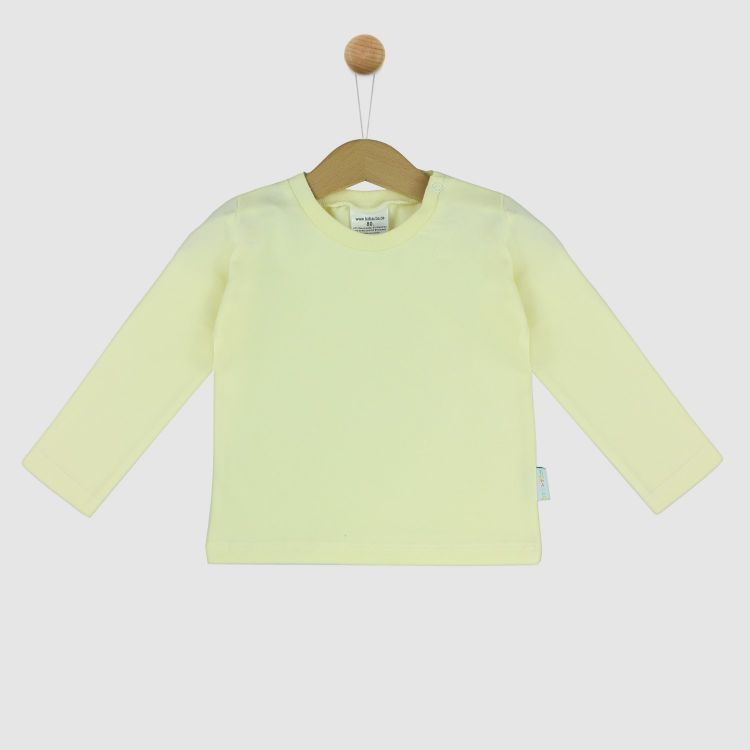Uni-Langarmshirt Creme