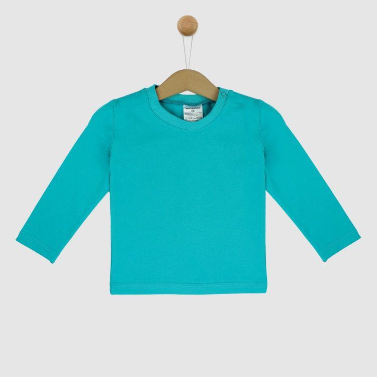 Uni-Langarmshirt Türkisgrün