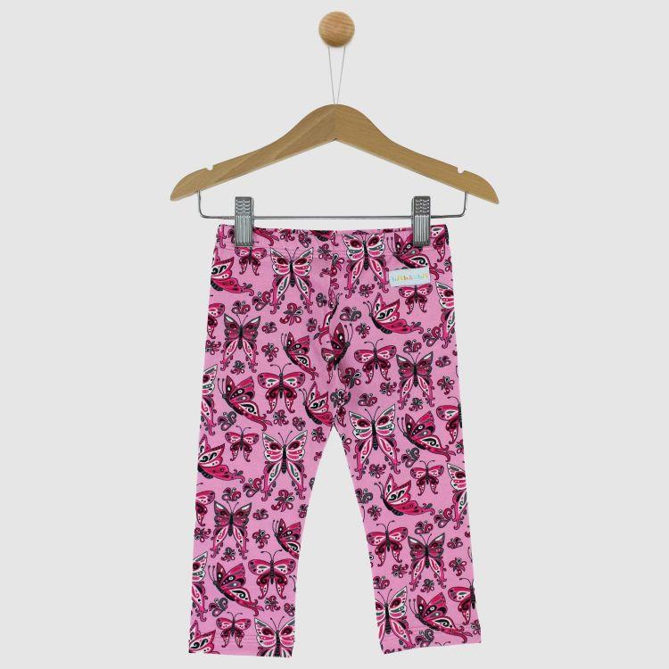 SkinnyPants PrettyButterflies-PinkAndBlack
