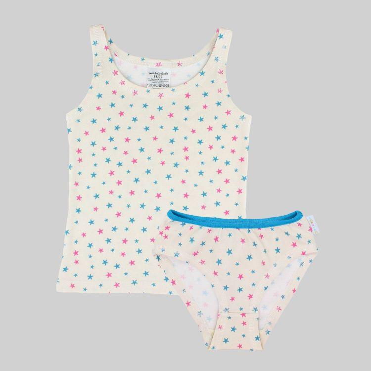 Underwear-Set-Girls CuteStars-BluePink