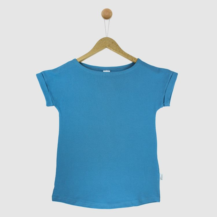 Uni-CasualWomanShirt 2.0 Rauchblau