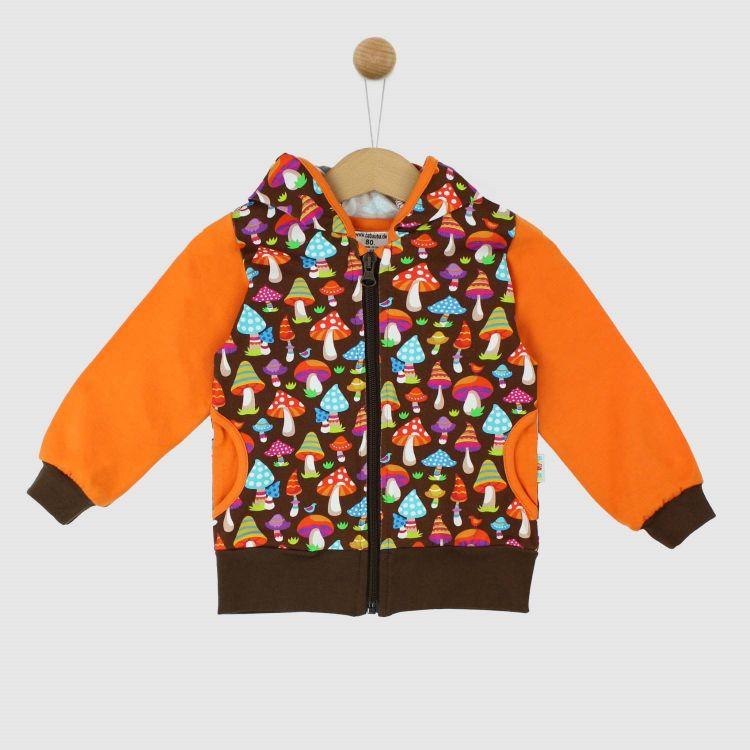 HoodieH1 ColorfulMushrooms-Brown
