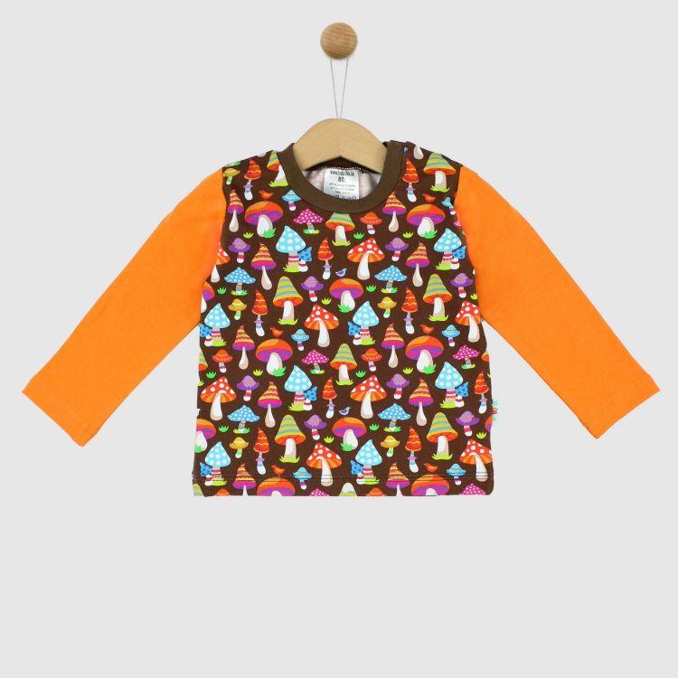 Langarmshirt ColorfulMushrooms-Brown