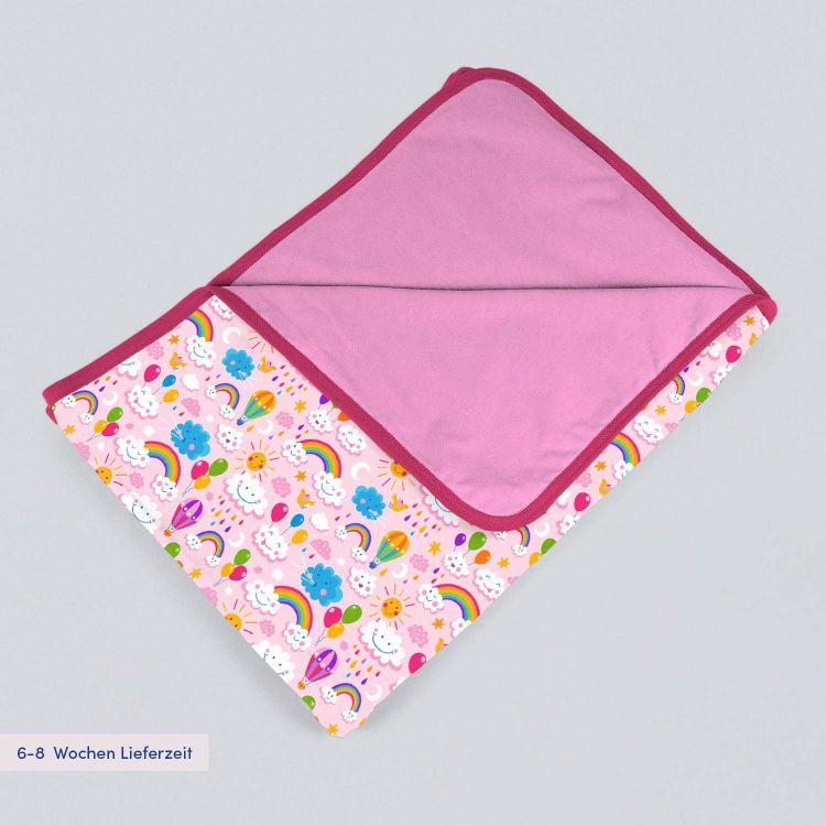 Jerseydecke SuperXXL RainbowsAndClouds-Pink