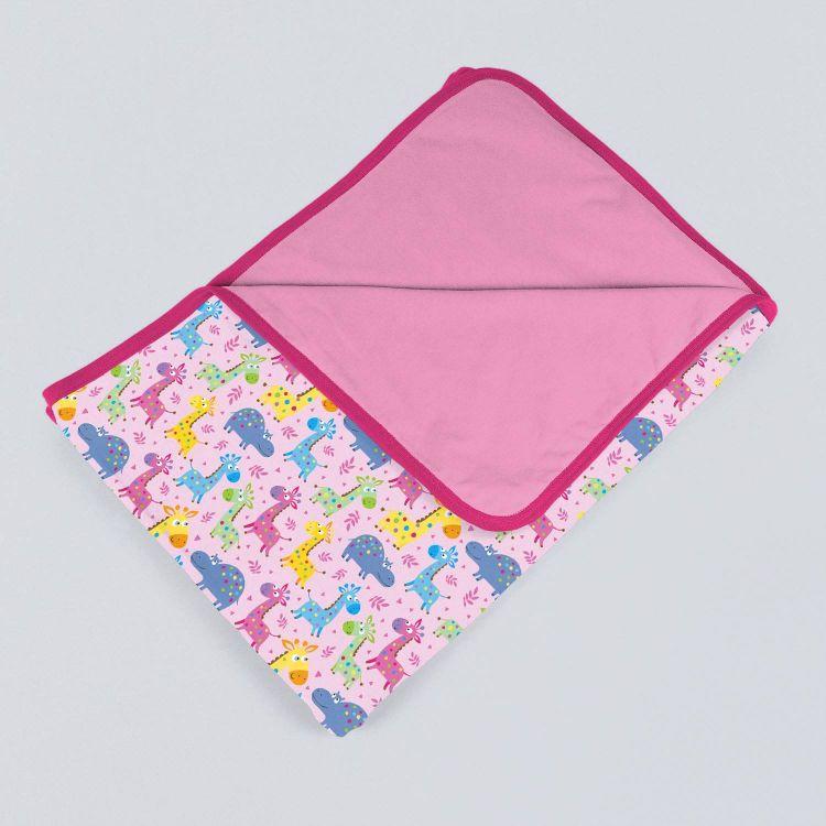Jerseydecke SuperXXL LittleSafari-Pink