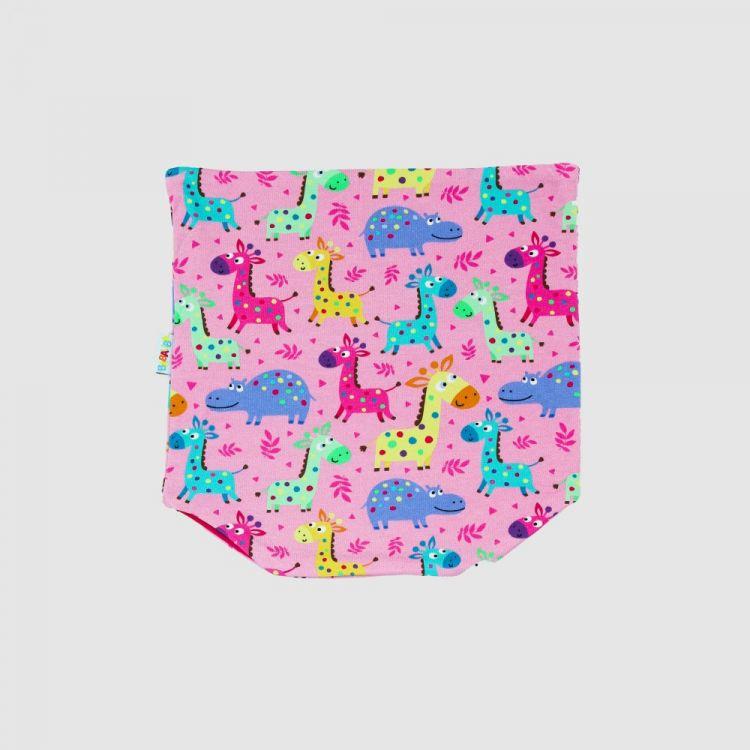 Loop-Schal LittleSafari-Pink