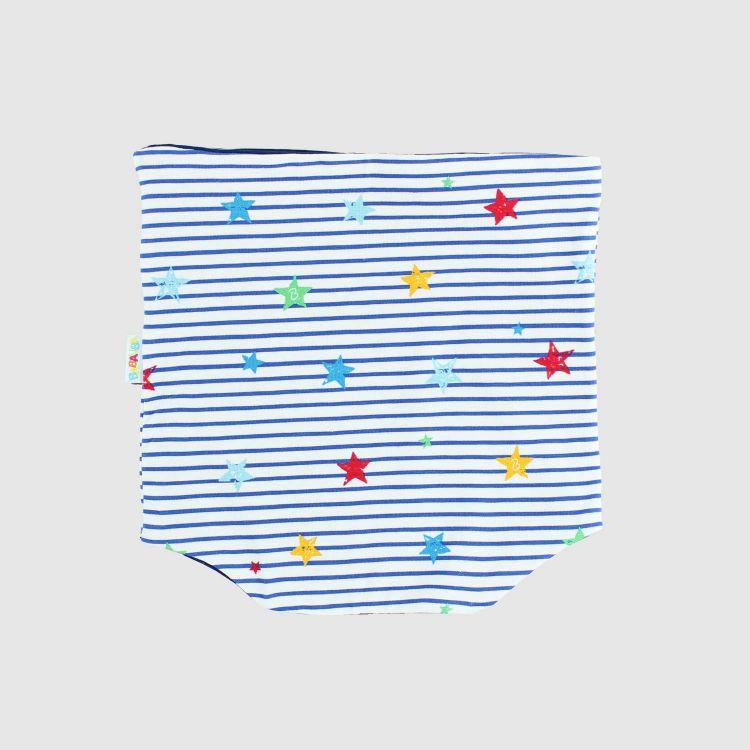 Loop-Schal RainbowStars-BlueStripes