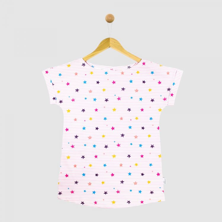 CasualWomanShirt 2.0 RainbowStars-RoseStripes