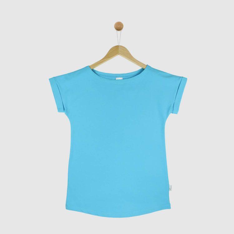 Uni-CasualWomanShirt 2.0 Azurblau